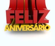 Feliz Aniversario Portuguese Happy Birthday Fotografía de archivo