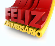 Feliz Aniversario Portuguese Happy Birthday Royalty Free Stock Image