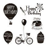 Feliz aniversario tipográfico Fotografia de Stock Royalty Free