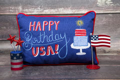 Feliz aniversario U S A Imagem de Stock