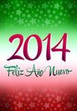 Feliz Ano Nuevo 2014 Fotografia de Stock Royalty Free