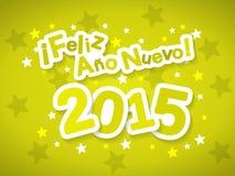 Feliz Ano Nuevo 2015 royalty ilustracja
