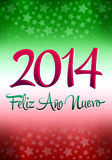 2014 Feliz Ano Nuevo. Happy new year spanish text - card - poster template Vector Illustration
