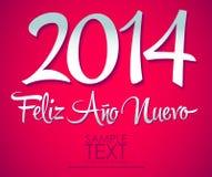Feliz Ano Nuevo Szczęśliwy nowy rok 20 - hiszpański tekst - Fotografia Stock