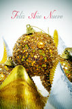 Feliz ano nuevo, w spanish szczęśliwy nowy rok Obraz Royalty Free