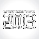 Feliz Año Nuevo 2013 Foto de archivo libre de regalías