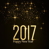 Feliz Año Nuevo del número 2017 de la textura del brillo del oro Imágenes de archivo libres de regalías