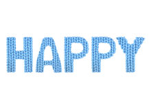 feliz Azul da cor Imagens de Stock