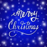 Feliz azul de Navidad Imagen de archivo