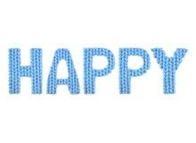 Feliz Azul del color Imagenes de archivo