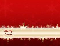 Feliz bandera de Navidad stock de ilustración