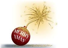 Feliz bomba de Navidad Fotografía de archivo libre de regalías