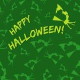 feliz bruja - modelo de Halloween ilustración del vector