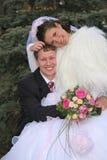Feliz casado imagem de stock royalty free
