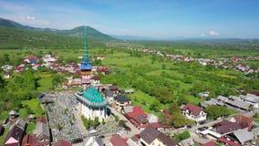 Feliz cementerio de Maramures Rumania Tiroteo del aire metrajes