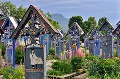 Feliz cementerio de Sapanta imagen de archivo