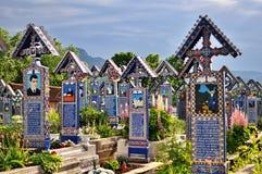 Feliz cementerio de Sapanta fotografía de archivo