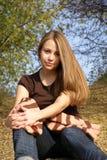 Feliz chica joven Fotos de archivo
