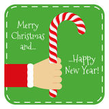 Feliz Chistmas y Feliz Año Nuevo Fotos de archivo