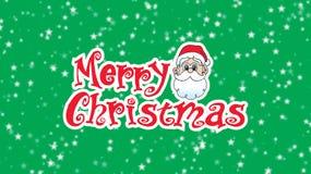 Feliz Christmas12 Santa Head que mira sobre tipo de la Navidad en pizca stock de ilustración