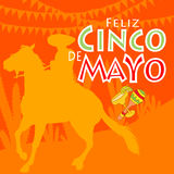 Feliz Cinco de Mayo stock illustrationer
