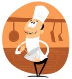 Feliz cocinero con un contacto de balanceo Fotos de archivo