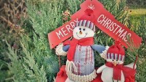 Feliz concepto del día de fiesta de los muñecos de nieve de Cristmas imagen de archivo libre de regalías