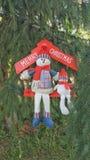 Feliz concepto del día de fiesta de los muñecos de nieve de Cristmas Imagen de archivo