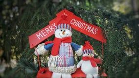 Feliz concepto del día de fiesta de los muñecos de nieve de Cristmas Fotografía de archivo