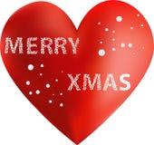 Feliz corazón de Navidad Foto de archivo libre de regalías