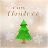 Feliz cubierta del árbol de navidad stock de ilustración