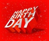 Feliz cumpleaños stock de ilustración