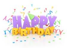 Feliz cumpleaños. Fotos de archivo libres de regalías