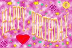 Feliz cumpleaños Imagen de archivo libre de regalías