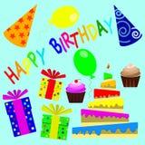 Feliz cumpleaños 10 stock de ilustración