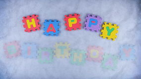 Feliz cumpleaños almacen de metraje de vídeo