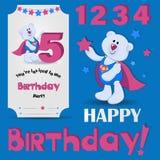 Feliz cumpleaños 5 años libre illustration