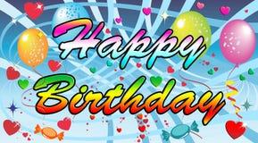 Feliz cumpleaños abstracto con efecto Fotos de archivo libres de regalías