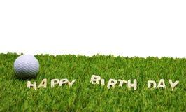Feliz cumpleaños al golfista Foto de archivo