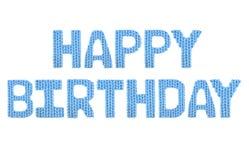 Feliz cumpleaños Azul del color Imagen de archivo