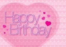 Feliz cumpleaños con amor Imagen de archivo libre de regalías