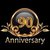 feliz cumpleaños de 90 aniversarios Fotografía de archivo