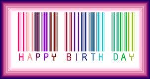 Feliz cumpleaños de codigo de barras Imagen de archivo
