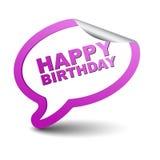 Feliz cumpleaños de la burbuja púrpura del elemento Imagen de archivo