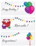 Feliz cumpleaños de la postal Imágenes de archivo libres de regalías