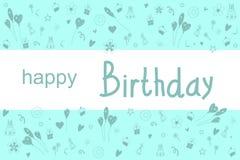 Feliz cumpleaños de la postal Imagen de archivo libre de regalías