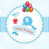 Feliz cumpleaños de la tarjeta divertida stock de ilustración