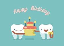Feliz cumpleaños dental stock de ilustración