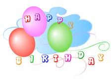 Feliz cumpleaños - globos Imagen de archivo libre de regalías
