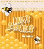 Feliz cumpleaños a mi dulce - tarjeta para los saludos Fotos de archivo libres de regalías